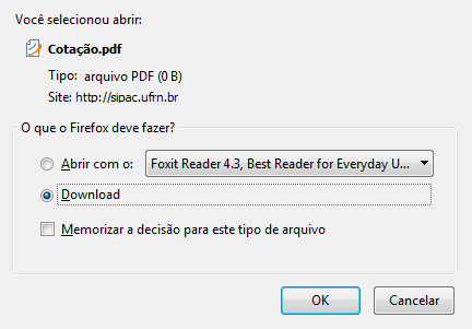 Figura 15: Visualizar ou Efetuar Download de Arquivo